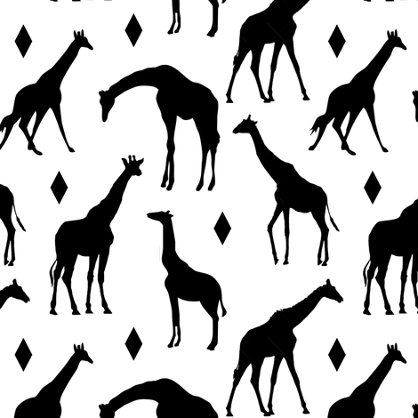 Giraffes // Small fabric by thinlinetextiles on Spoonflower - custom fabric