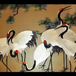 chinese crane - black frame - c.r.