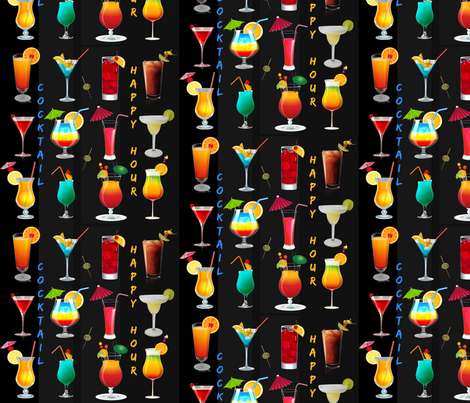 Happy Hour fabric by floramoon on Spoonflower - custom fabric