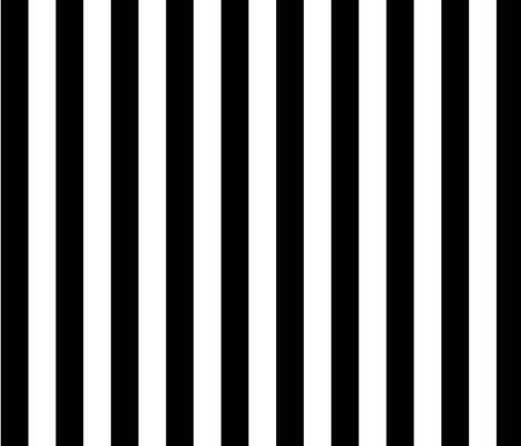 bold stripes black fabric by meissa on Spoonflower - custom fabric