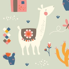 Llamas Large // by petite_circus // cute  kids baby nursery //