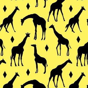 Giraffes on Sunrise Yellow // Small