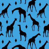 Geo Giraffes - Watering Hole Blue
