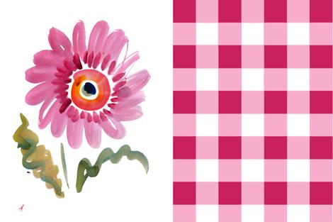 cestlaviv_gerber_cheater fabric by cest_la_viv on Spoonflower - custom fabric