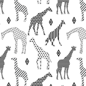 Geo Pattern Giraffes - Small