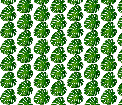 Monstera leaf, green, Palm tree, tropical, plants, summer, trendy || by sunny afternoon fabric by sunny_afternoon on Spoonflower - custom fabric
