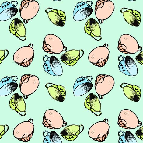 Teacups fabric by shannon_buck on Spoonflower - custom fabric