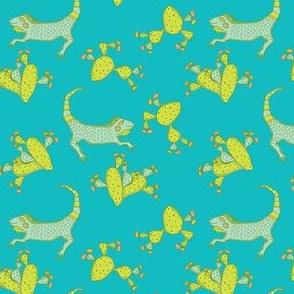 Lizard and Cacti