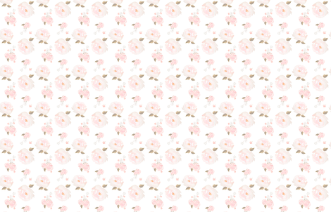Indy Bloom Design Blush Rose A fabric by indybloomdesign on Spoonflower - custom fabric