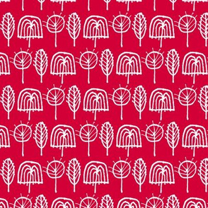 Scribble Trees (Red)