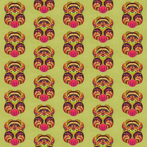 Alien medallions fabric whimsydesigns spoonflower for Alien print fabric
