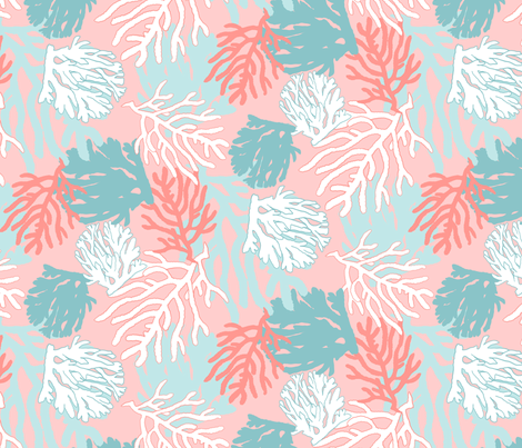 SS2017-0075-Coral-04 fabric by tresbondesign on Spoonflower - custom fabric