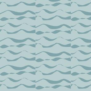 Waves XL dark silver blue on light silver blue