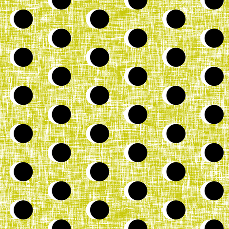 Light + dark moons on a pickle linen weave by Su_G fabric by su_g on Spoonflower - custom fabric