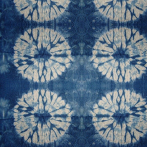 Shibori indigo, shibori circles, tie dye pattern, modern shibori || by sunny afternoon