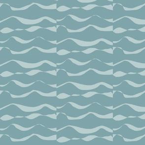 Waves XL light silver blue on dark silver blue