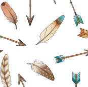 Scattered Feathers and  Arrows