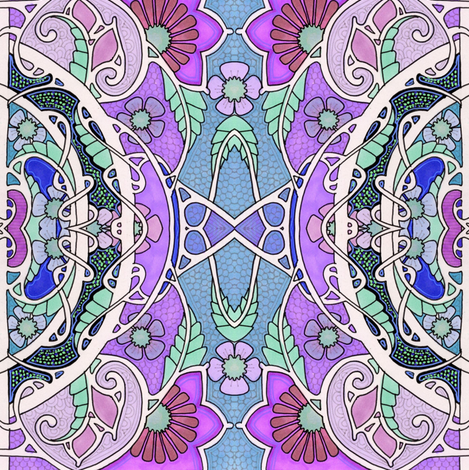 Garden of Stained Glass fabric by edsel2084 on Spoonflower - custom fabric