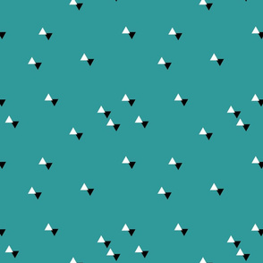 triangles teal