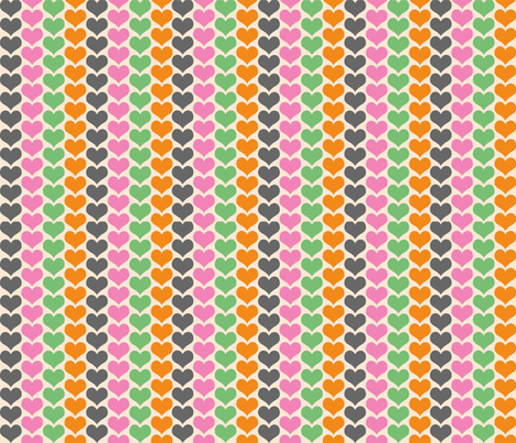 heartsfoxcoordinate fabric by kmoses2886 on Spoonflower - custom fabric