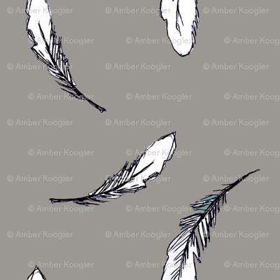 Feathers in Gray