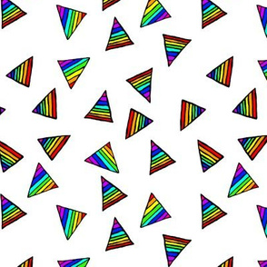 Rainbow-Striped Triangles - Small