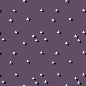 tiny triangles purple