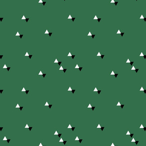 tiny triangles green