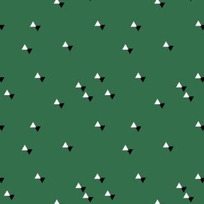 tiny triangles green