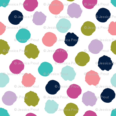 Multi Spots Good Cheer Collection Fabric