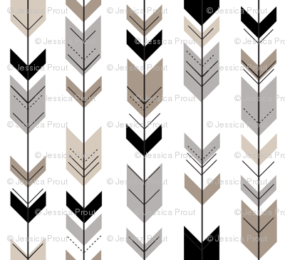 Neutral Fletching Arrow || Classic Woodland