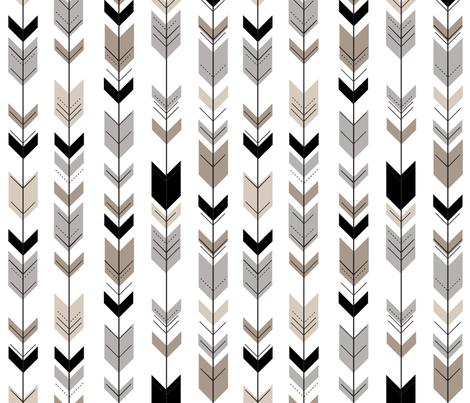 Neutral Fletching Arrow || Classic Woodland fabric by littlearrowdesign on Spoonflower - custom fabric