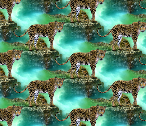 wild cat - large fabric by stofftoy on Spoonflower - custom fabric