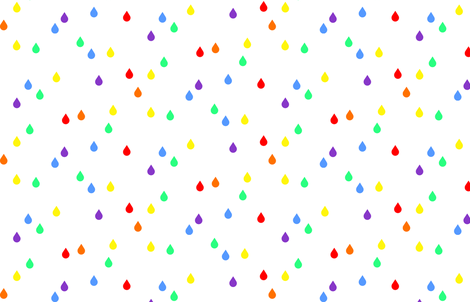 Clouds + Rain - Raindrops Rainbow fabric by cavutoodesigns on Spoonflower - custom fabric