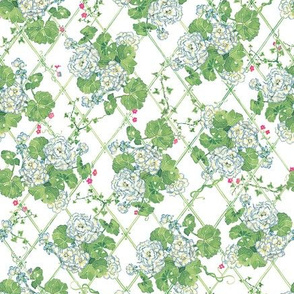 Rose Trellis-Blue