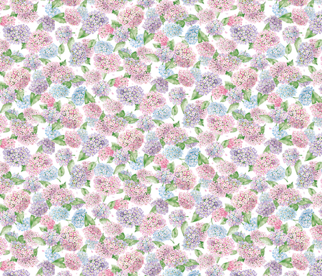 hydrangea fabric by susanbranch on Spoonflower - custom fabric