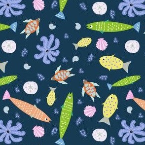 Tropical fish in Blue