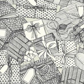 pencil parcels ivory