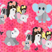 Parti Yorkie - Biewer with Love, Elephants & Hearts