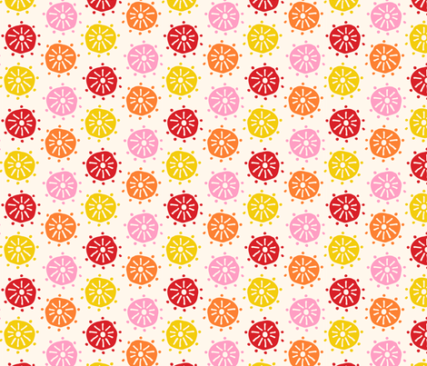 Spring Flowers 2017 Palette fabric by onelittleprintshop on Spoonflower - custom fabric