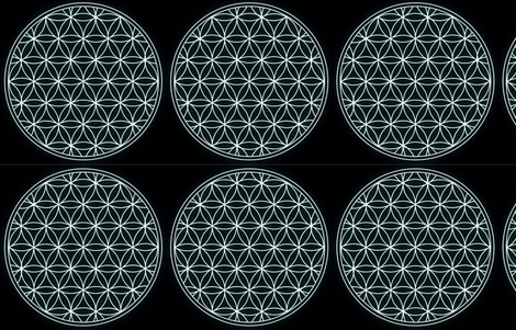 Flower of Life fabric by citivacreationz on Spoonflower - custom fabric