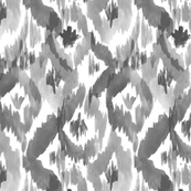 Gray Ikat Diamonds