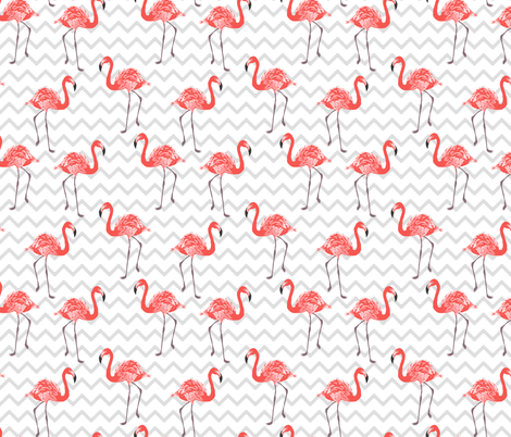 Red flamingo fabric by innamoreva on Spoonflower - custom fabric