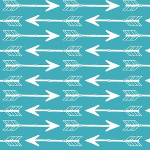 Arrows White on Teal
