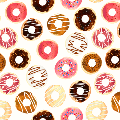 Donuts For Days fabric by tangerine-tane on Spoonflower - custom fabric