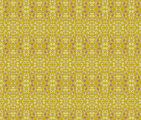 Seashell Mosaic on Antique Gold fabric by rhondadesigns on Spoonflower - custom fabric