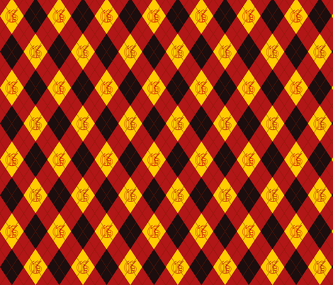 Griffon House Argyle fabric by clonistudios on Spoonflower - custom fabric