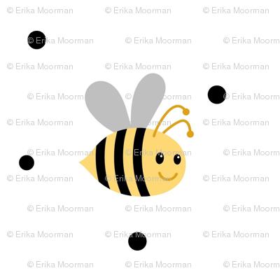Buzzy Bee2 polka dots- Medium