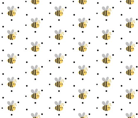 Buzzy Bee2 polka dots- Medium fabric by drapestudio on Spoonflower - custom fabric