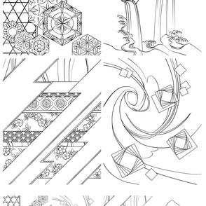 Japanese Textile Panels 1